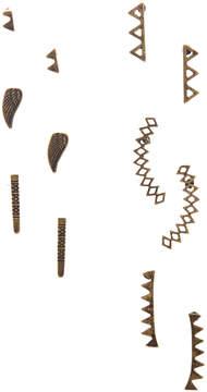 Carole Six-Pair Burnished Goldtone Geometric Stud Earrings Set