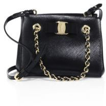 Salvatore Ferragamo Mini Melike Saffiano Leather Chain Tote