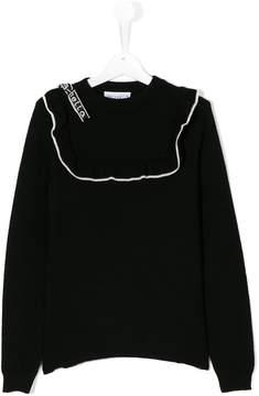 Simonetta ruffle-trimmed jumper