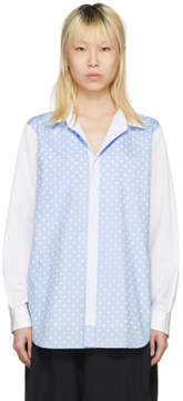 Comme des Garcons White Polka Dot Underlay Shirt