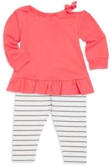 Splendid Baby Girl's Two Piece Drop Shoulder Top& Leggings Set