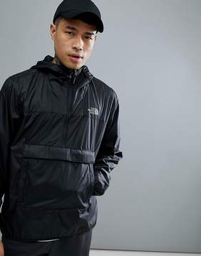 The North Face Fanorak Overhead Jacket Hooded Packable In Black