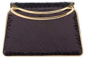 Judith Leiber Crystal Embellished Snakeskin Clutch