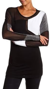 Electric Yoga Colorblock Mesh Inset Shirt