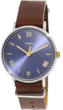 Timex Men's Southview 41 TW2R28700 Silver Leather Analog Quartz Dress Watch