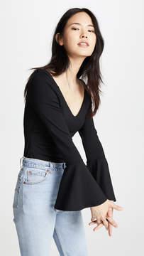 Susana Monaco Off Shoulder Flare Sleeve Top