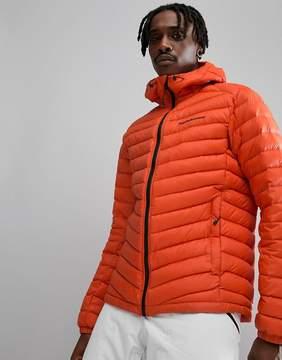 Peak Performance Frost Down Hooded Jacket In Orange
