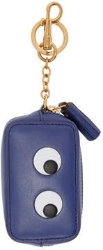 Anya Hindmarch Blue Eyes Coin Purse Keychain