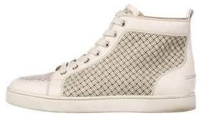Christian Louboutin Rantus Orlato Woven Leather Sneakers