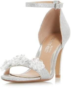 Head Over Heels *Head Over Heels by Dune Silver 'Muse' Heeled Sandals