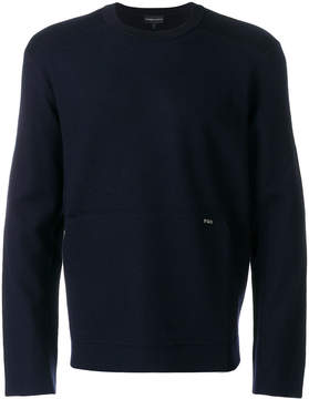 Emporio Armani logo plaque sweater
