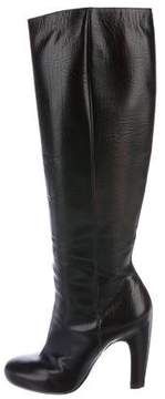 Maison Margiela Leather Round-Toe Knee-High Boots