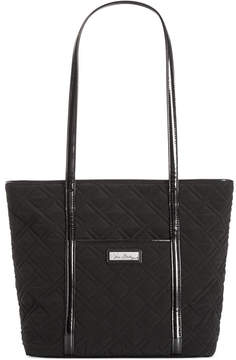 Vera Bradley Trimmed Vera Small Tote - CHARCOAL - STYLE