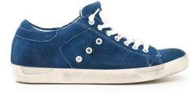 Leather Crown Men's Blue Suede Sneakers.