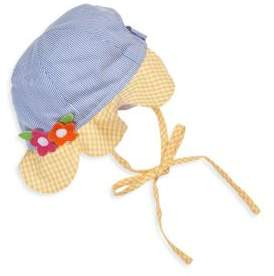 Florence Eiseman Baby's Floral Applique Striped Hat