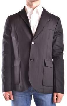 Peuterey Men's Black Cotton Blazer.