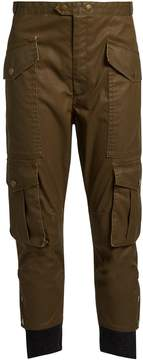Etoile Isabel Marant Dexter cropped coated-twill trousers