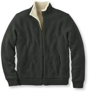 L.L. Bean L.L.Bean Sherpa Fleece-Lined Sweater, Full Zip