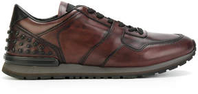 Tod's panelled lace-up sneakers