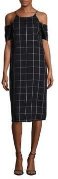 WAYF Patterned Cold Shoulder Dress