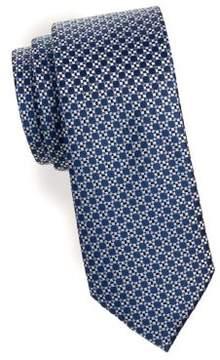 Black & Brown Black Brown Dot Patterned Silk Tie