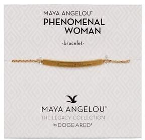 Dogeared 14K Gold Vermeil Maya Angelou Phenomenal Woman ID Bar Bracelet