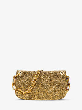 Michael Kors Goldie Metallic Brocade Shoulder Bag - GOLD - STYLE