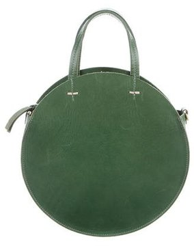 Clare V. Leather Round Satchel