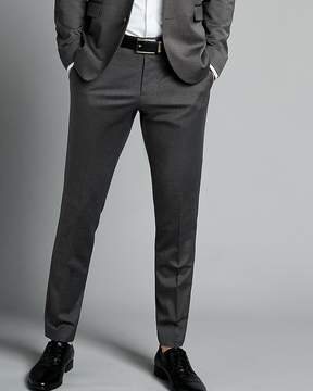 Express Extra Slim Charcoal Gray Wool Blend Oxford Suit Pant