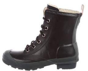 Hunter Rubber Lace-Up Boots