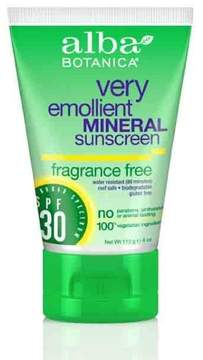 Alba Fragrance Free Broad Spectrum Mineral Sunscreen SPF30 by 4oz Cream)
