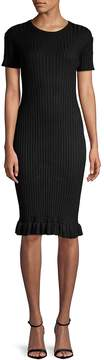 John & Jenn John + Jenn Women's Judith Ribbed Bodycon Dress
