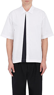 Marni Men's Colorblocked-Panel Cotton Poplin Shirt