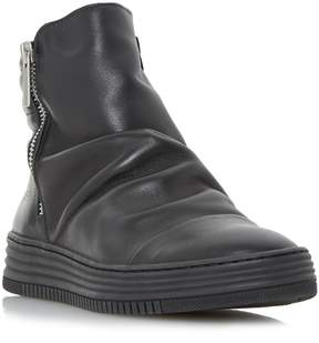 Dune London QUAKE - BLACK Sporty Ruched Detail Ankle Boot