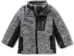 Urban Republic Little Boys 2T-7 Melange Fleece Knit Jacket