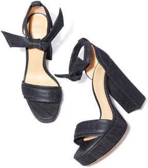 Alexandre Birman Aline Denim Heel Sandal, Size 38
