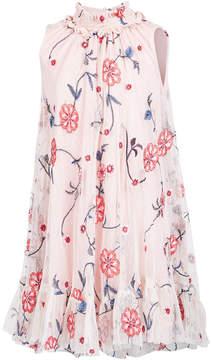 Bonnie Jean Toddler Girls Embroidered Smock-Neck Dress