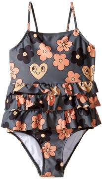 Mini Rodini Flower Frill Swimsuit Girl's Swimsuits One Piece