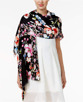 INC International Concepts Butterfly Garden Wrap & Scarf in One, Created for Macy's
