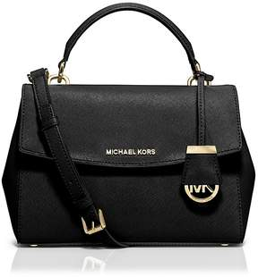 MICHAEL Michael Kors Ava Small Top Handle Satchel - BLACK/GOLD - STYLE