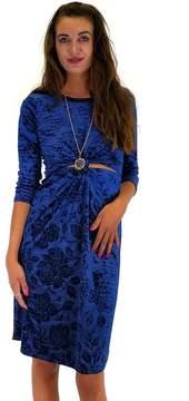 Everly Navy Maven Midi Dress