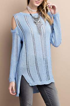 Easel Cold Shoulder Knitted Sweater