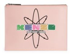 KENZO Cory Bic Whips Leather Pouch