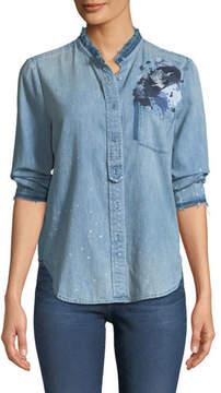 AG Jeans Courtney Button-Down Denim Shirt