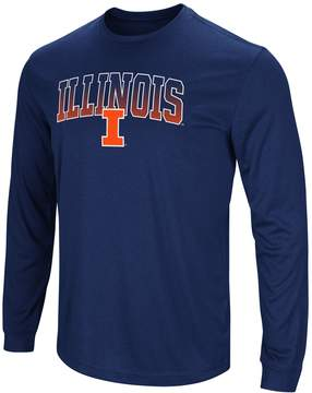 Colosseum Men's Campus Heritage Illinois Fighting Illini Gradient Long-Sleeve Tee