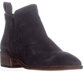 Dolce Vita Tessey Short Ankle Booties, Anthracite Suede.