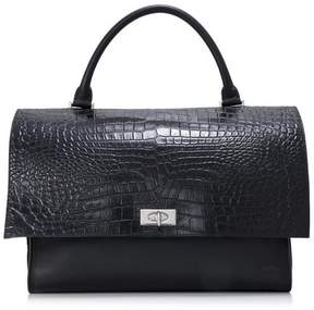 Givenchy Vintage Crocodile Embossed Calf Leather Shark Bag