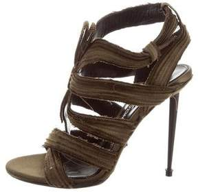 Tom Ford Satin Cage Sandals