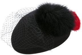 Federica Moretti fur and net hat