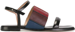 Paul Smith panelled colour block sandals
